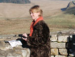 Elspeth at Hadrian's Wall