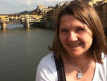 Emma at the Ponte Vecchio in Florence