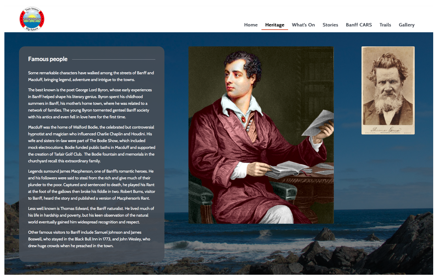 Banff and Macduff website famour people