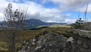 image shows a view of a mountainous landscape